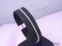 【即買い】K18WG  2.00ct ダイヤモンド ブレスレット 17cm 仕上済★dot