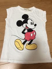 美品 ZARAキッズ ミッキーTシャツ タンク 4-5才 110センチ 白