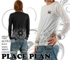 【PLACE PLAN】お兄.メンエグ♪スカル刺繍ロンTホワイト