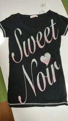 新品タグ付き・TRALALA 半袖Tシャツ・Fサイズ・ブラック