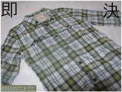 即決 USA正規店購入 Hollister ロングスリーブシャツUS S GREEN
