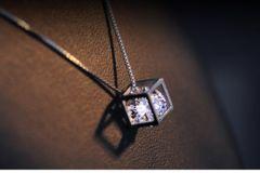 【ダイヤ イン ボックス 3.85ct 】ダイヤ ペンダント WG18k