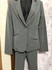 新品 スーツ上下 入学式 卒業式 OLなど☆11号グレー×ピンク