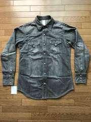 13■EDWIN ウエスタン ボタン シャツ 黒 Lサイズ 切手払い可能
