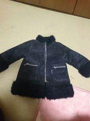コムサの男女兼用暖かコート90黒