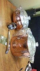 銅鍋。カレーポットと、煮込み鍋の二点で。どちらも未使用。
