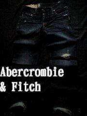 【Abercrombie&Fitch】Vintage スリムストレート デストロイジーンズ 28/Dark