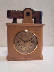 木製★ライター型置時計