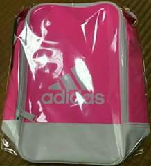 【adidas】プレミアムエナメルスリムショルダーバッグ/ピンク