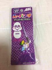 AAA★え〜パンダ北海道限定ストラップ★紫