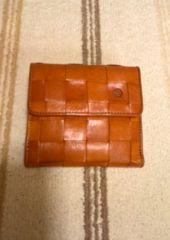ダコタ メッシュ二つ折財布 キャメル 新品未使用