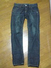 ユニクロUNIQLOボーイフレンドデニムジーンズ26美品ブルー