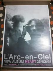 L'Arc〜en〜Ciel   HEART 告知 ポスター ラルク  非売品 hyde
