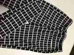美品 レギンス 黒×白 M