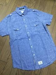 美品CIAO PANIC デザインシャンブレーシャツ チャオパニック