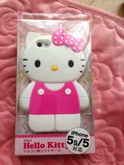 HelloKittyハロキティiPhone5/5sシリコンケース新品