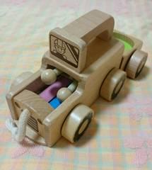 子供用品☆ベネッセ☆トラック☆木製おもちゃ