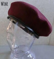 帽子 ベレー帽 パイピング フェルトベレー ウール バスク 上質