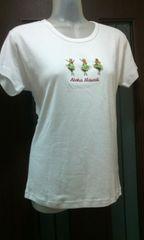 新品L-XL☆フラガ-ルの刺繍付き/ハワイから購入/半袖白Tシャツ