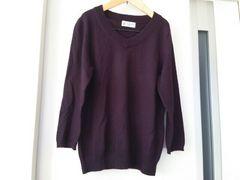 七分袖Vネックセーター*美品