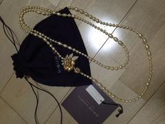 本物 MIRIAM HASKELL Flower pearl long necklace パールネック
