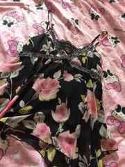 花柄シフォンキャミL