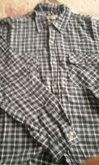 150ブルーチェックシャツ