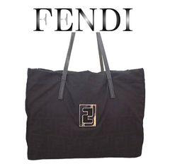 超美品 FENDI フェンディ ズッカ柄 トートバッグ