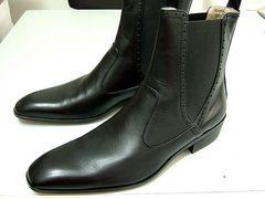 3.6万新品トルネードマートLブーツ黒レザー本皮革シューズ靴