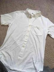 ユニクロ半袖白ポロシャツ 試着のみ