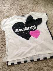 JENNI・デカリボン半袖Tシャツ・白150
