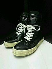 衝撃初期名作リックオウエンスジオバスケットスニーカー黒ブーツ