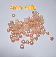 処分☆ハートパール4mm ピンク 約90粒