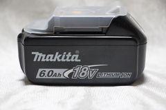 ♪マキタ 18V-6.0Ah リチウムイオンバッテリ BL1860B/純正