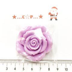 7*�@スタ*オリジナル貼付パーツ*ツヤ薔薇大*紫*69