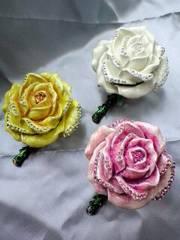 高級クリスタル宝石箱☆大輪の薔薇☆