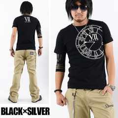 メール便送料無料【DELTA】Tシャツ70632新品黒銀XL