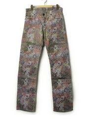 定価4.8万・新品★Roen総柄コーティング加工パンツ LGB JOYRICH