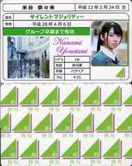 米谷奈々未 サイレントマジョリティー 免許証カード 欅坂46