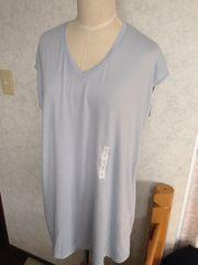 ◆新品◆シンプル系◆使えるTシャツワンピ◆ライトブルーS