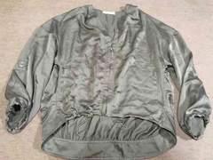 ジーナシス☆薄手ジャケット/羽織り☆サイズ表記なしF、2度着