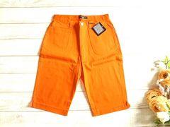 新品 AFRICAN BEAT ハーフ パンツ L 67 オレンジ キュロット