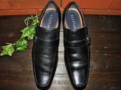 ELLE PLANETE (エルプラネット) 革靴 ストラップ 黒 ★ 26cm/EEE