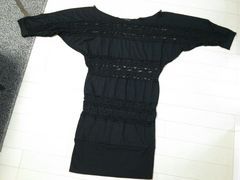 新品◆baby shoop◆シュープレースドルマンタイトワンピース黒