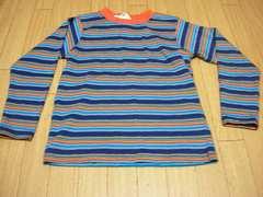 【新品タグ付】長袖Tシャツ130cmストライプ柄