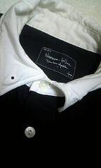 ◆NUMBER(N)INE(ナンバーナイン)カットオフノースリーブシャツ♪/3/黒×白/激安売切