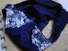 ●刺繍パンティ 濃藍