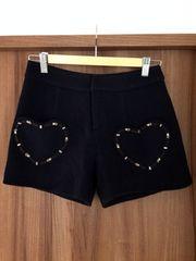 チェスティ chesty ◆美品 ハートポケット付きキュロットスカート・ショートパンツ (黒)♪