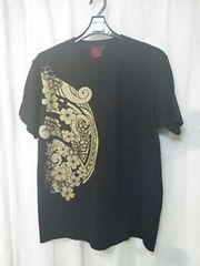 新品!泥棒日記 桜プリント半袖Tシャツ 和柄
