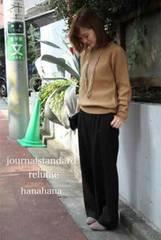 js.relume*人気完売Arlesウールワイドパンツ新品dark brown